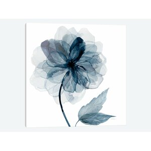 'Indigo Bloom I' Graphic Art Print on Wrapped Canvas by East Urban Home