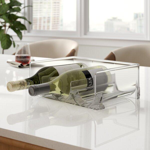 Brielle Stackable 3 Bottle Tabletop Wine Rack by Rebrilliant