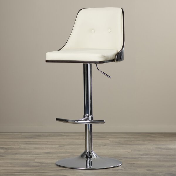 Los Santos Adjustable Height Swivel Bar Stool by Langley Street
