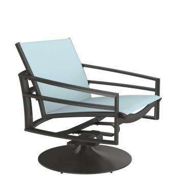 Kor Sling Swivel Action Patio Chair by Tropitone
