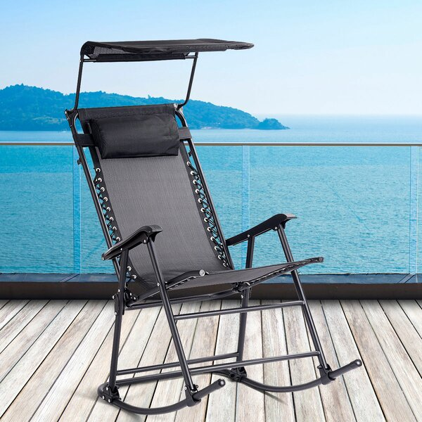 Nitya Folding Rocking Chair by Ebern Designs