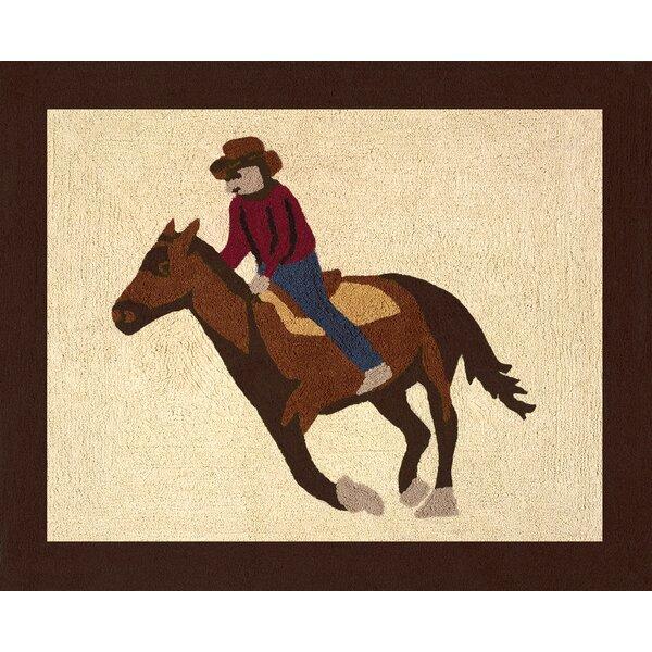 Wild West Cowboy Floor Brown/Beige Area Rug by Sweet Jojo Designs