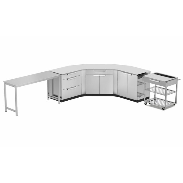 Outdoor Kitchen Set 210 W x 24 D 10 Pieces Stainless Steel Classic by NewAge Products