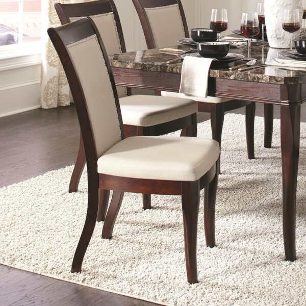 Kopf Wood Upholstered Dining Chair (Set of 2) by Alcott Hill