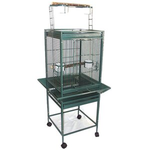 Play Top Parrot Bird Cage with 2 Feeder Doors