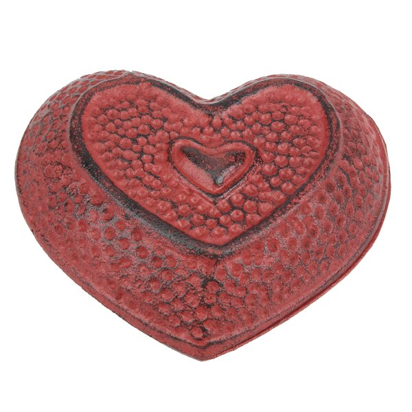 Pettine Cast Iron Heartshaped Accent Trinket Box by August Grove