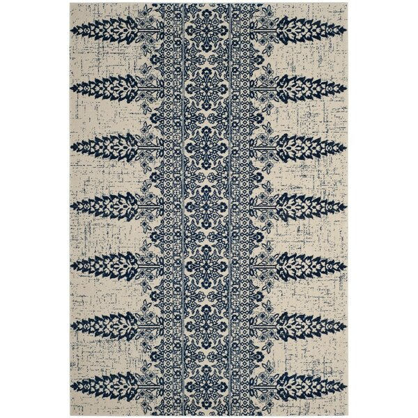 Elson Ivory/Royal Area Rug by Mistana