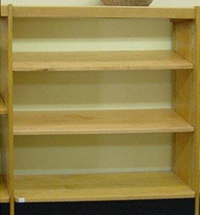 Open Back Single Face Shelf Standard Bookcase by W.C. Heller