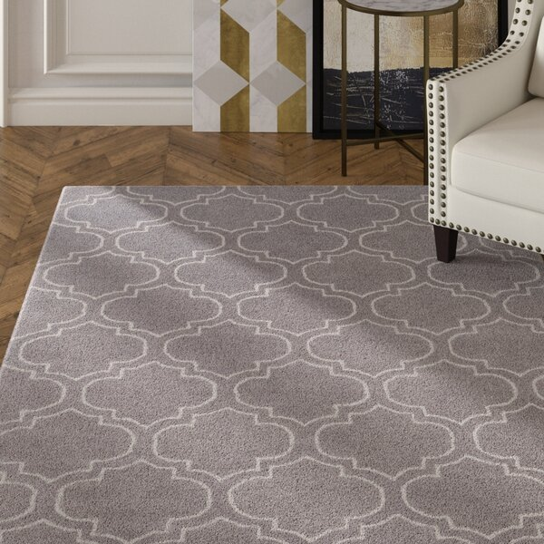 Shandi Hand-Tufted Charcoal Area Rug by Mercer41