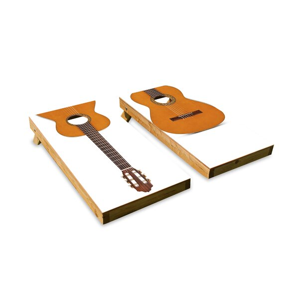 Acoustic Guitar Cornhole Board by The Cornhole Crew