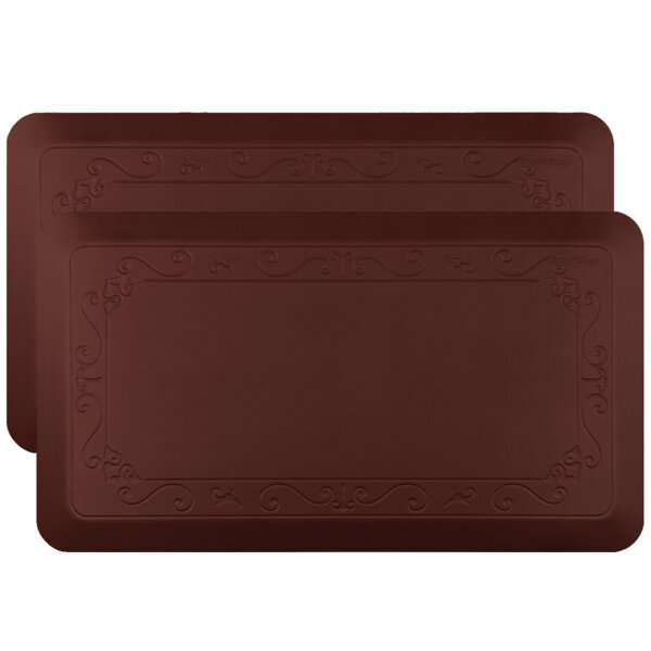 Fleur-De-Lys Premium Anti-Fatigue Mat (Set of 2)