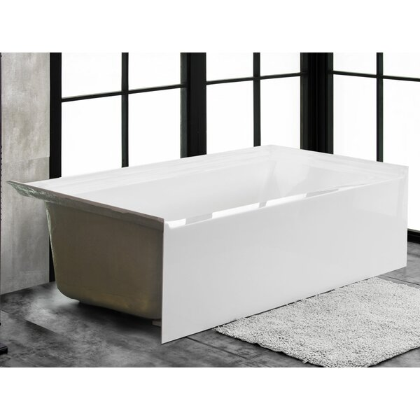 Florence 60 x 34 Alcove Soaking Bathtub by Finesse