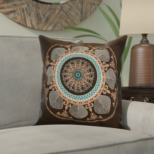 Soluri Stained Glass Geometric Outdoor Throw Pillow by Bungalow Rose