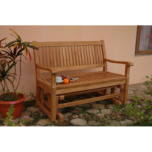 Del-Amo Teak Garden Glider Bench by Anderson Teak