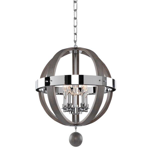 Griffie 5 - Light Unique / Statement Globe Chandelier by Union Rustic Union Rustic