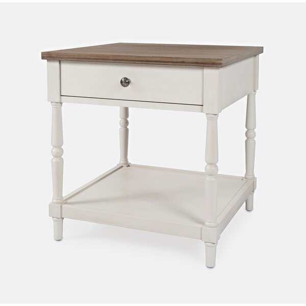Aleman 4 Legs 1 Drawer End Table by August Grove August Grove