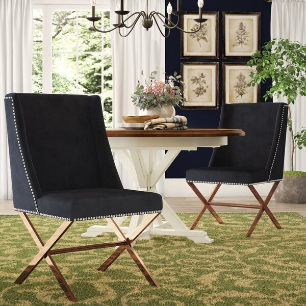 Calmar Upholstered Dining Chair by Wade Logan