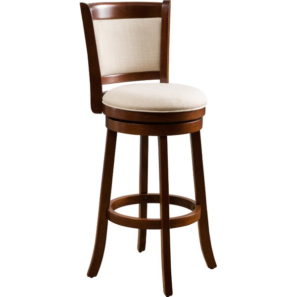 Bellefontaine 29 Swivel Bar Stool by Red Barrel St