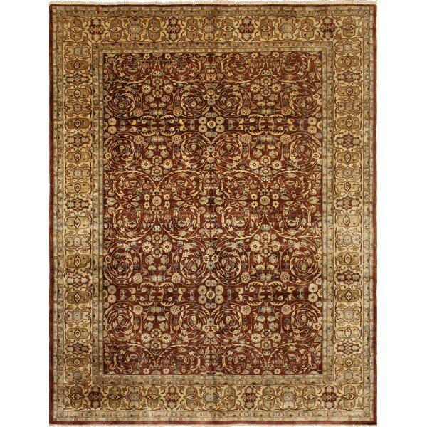 Rosemont Turkish Hand Knotted Wool Dark Red Area Rug by Astoria Grand