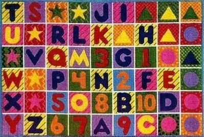 Supreme Numbers and Alphabet Area Rug by Fun Rugs
