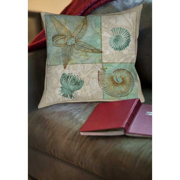 Averill Sea Life 1 Printed Throw Pillow by Rosecliff Heights