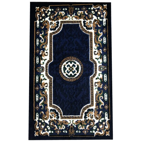 Edeline Traditional Navy Area Rug by Astoria Grand