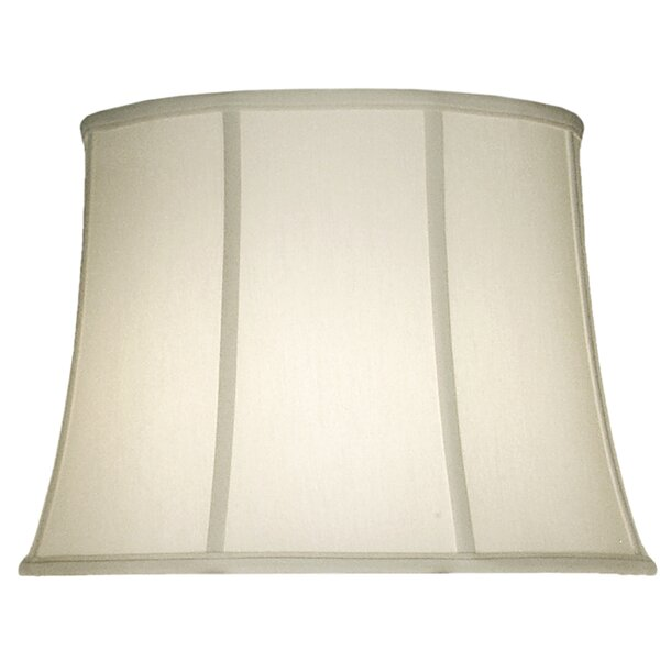 13 H Linen Bell Lamp Shade ( Spider ) in Ivory