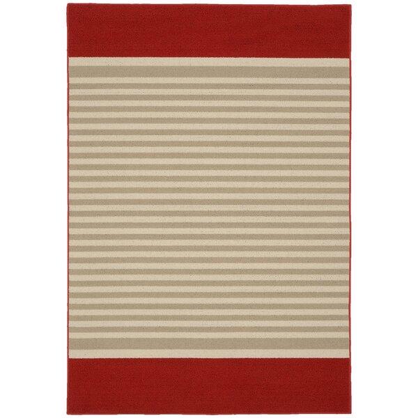 Sideline Crimson/Tan Area Rug by Garland Rug