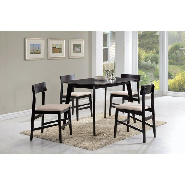 Declue Wooden 5 Piece Dining Set by Wrought Studio