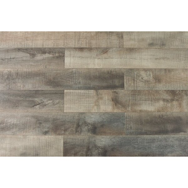 Summa 6.5 x 48 x 12mm Oak Laminate Flooring in Natural Chestnut by Montserrat