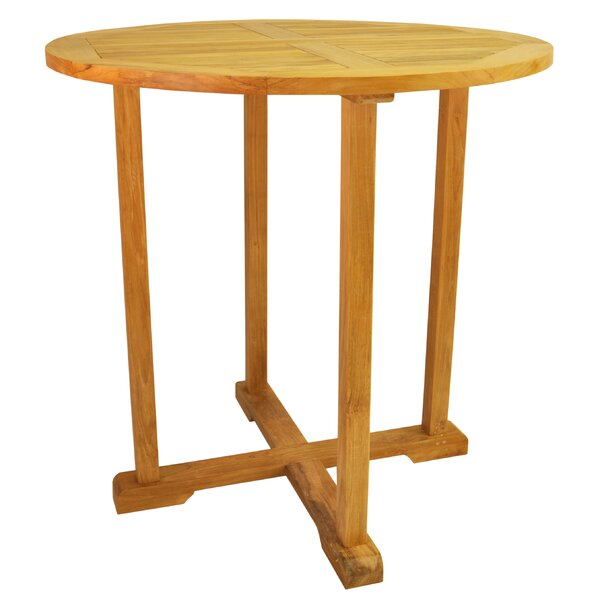 Farnam Solid Wood Bar Table by Rosecliff Heights