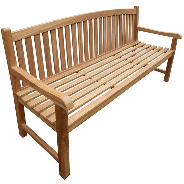 Cosgrove Oval Teak Garden Bench by Highland Dunes
