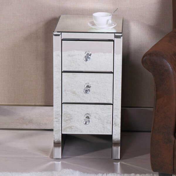 Coppola 3 Drawer Nightstand by Everly Quinn