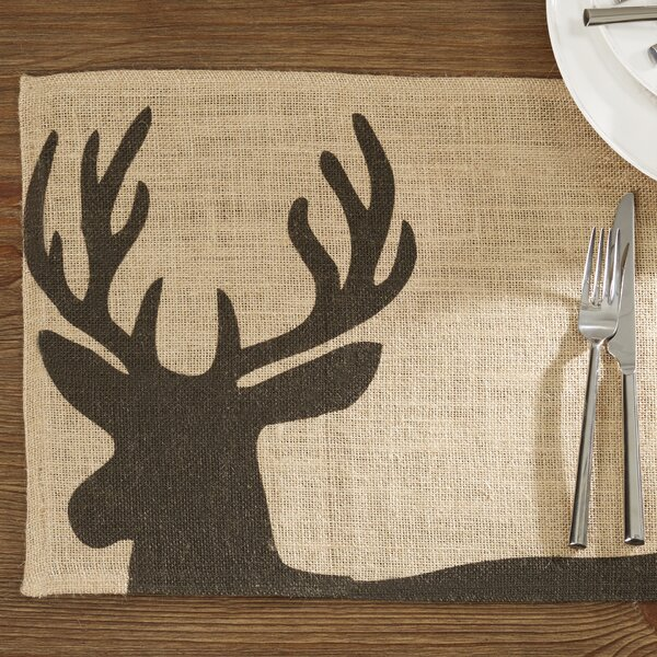 Fredonyer Deer Burlap Placemat (Set of 4) by Loon Peak