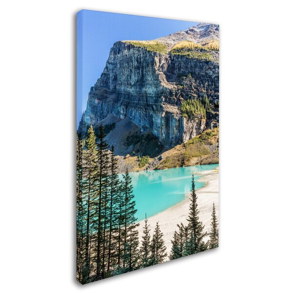 Lake Louise Beach by Pierre Leclerc Photographic Print on Wrapped Canvas by Trademark Fine Art