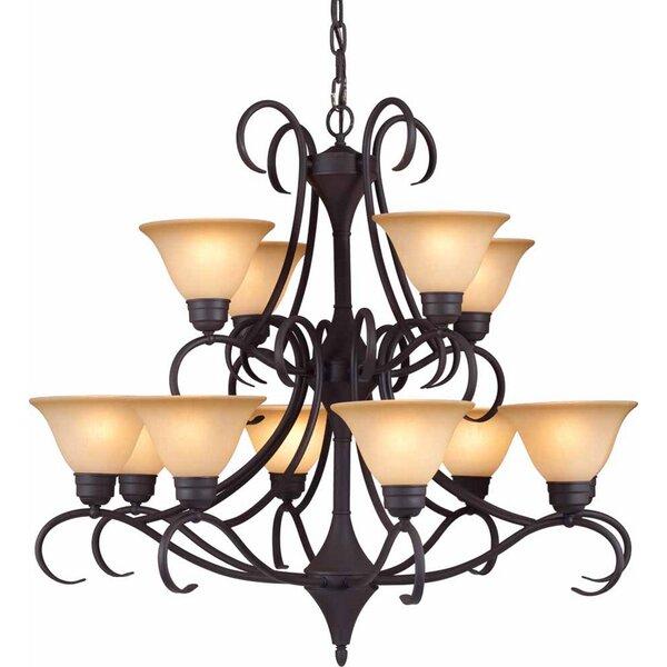 Windsor 12 - Light Shaded Empire Chandelier By Volume Lighting