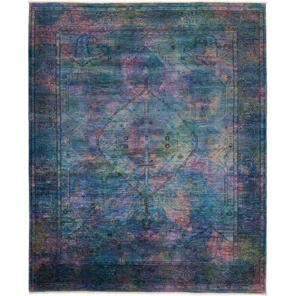 One-of-a-Kind Courter Hand Knotted Blue Area Rug by Bungalow Rose