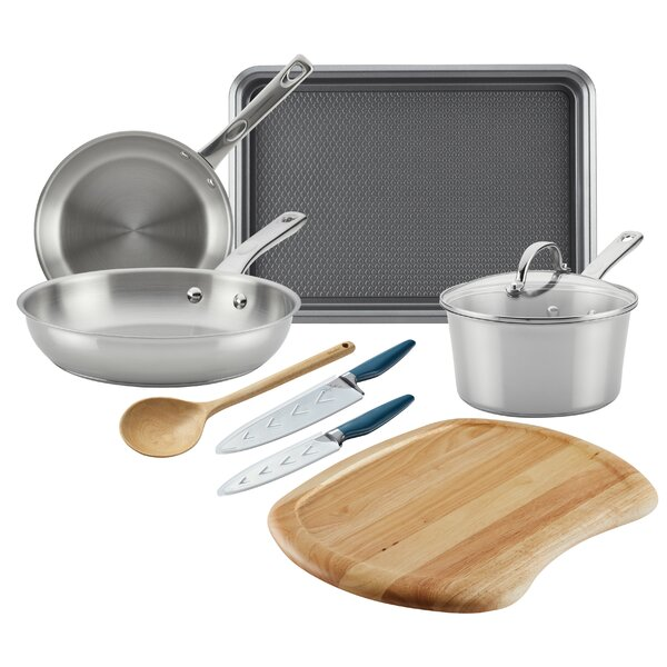 9 Piece Stainless Steel Cookware Set by Ayesha Curry