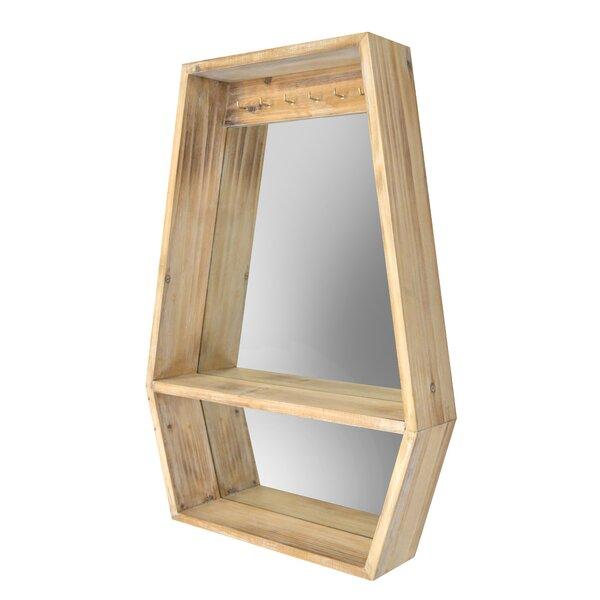 Caden Polygon Mirror Wall Shelf by Highland Dunes