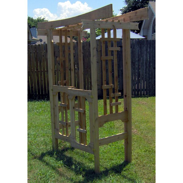 Japanese Wood Arbor With Gate by Threeman Products