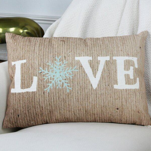 Love Snowflake Paper Lumbar Pillow by One Bella Casa
