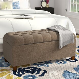 Halvorson Upholstered Storage Bench by Andover Mills