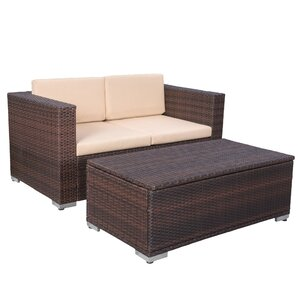 Tildenville 2 Piece Cameron Patio Seating Group