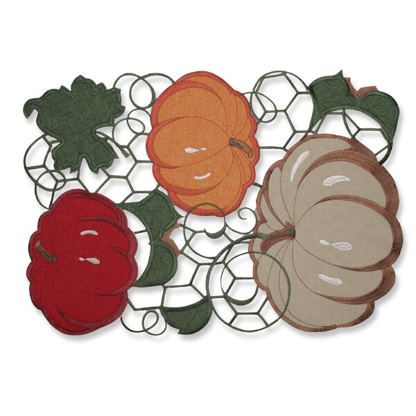 Pumpkin Stack Harvest Placemat (Set of 2) by Pillow Perfect
