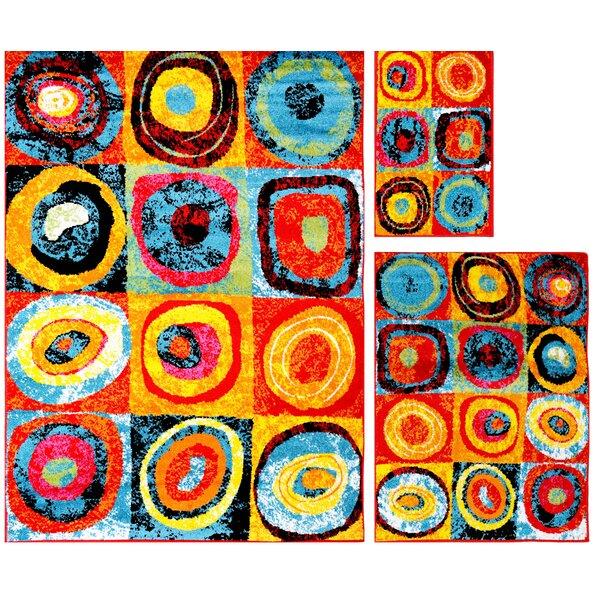 Carrasco Circles 3 Piece Rug Set by Latitude Run