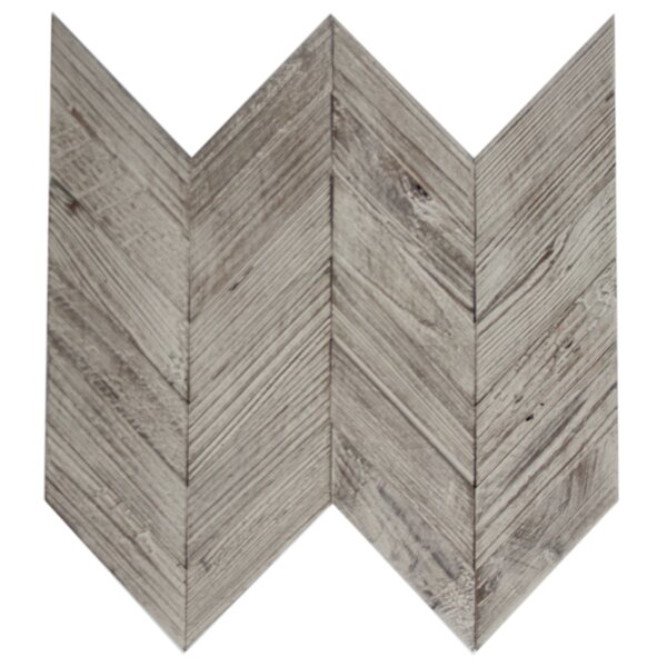 Chevron 2 x 4 Wood Look Glass Mosaic Tile in Brown/Gray by Susan Jablon
