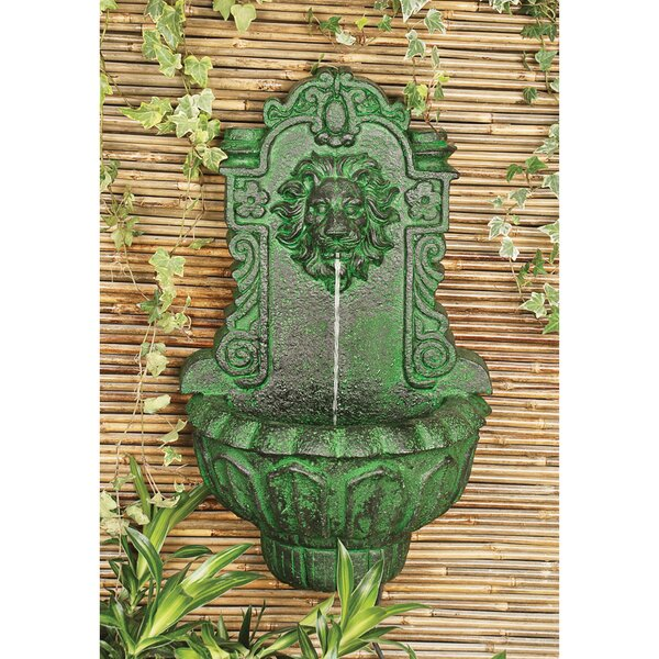 Resin Lion Head Wall Niche Sculptural Fountain by Wildon Home ®