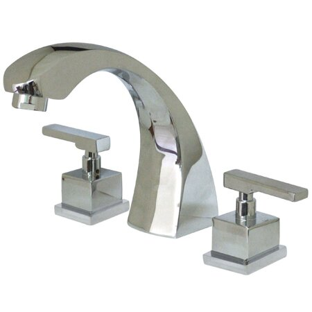 Fortress Double Handle Deck Mounted Roman Tub Faucet by Elements of Design Elements of Design