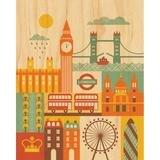 London Decorative Plaque by Petit Collage