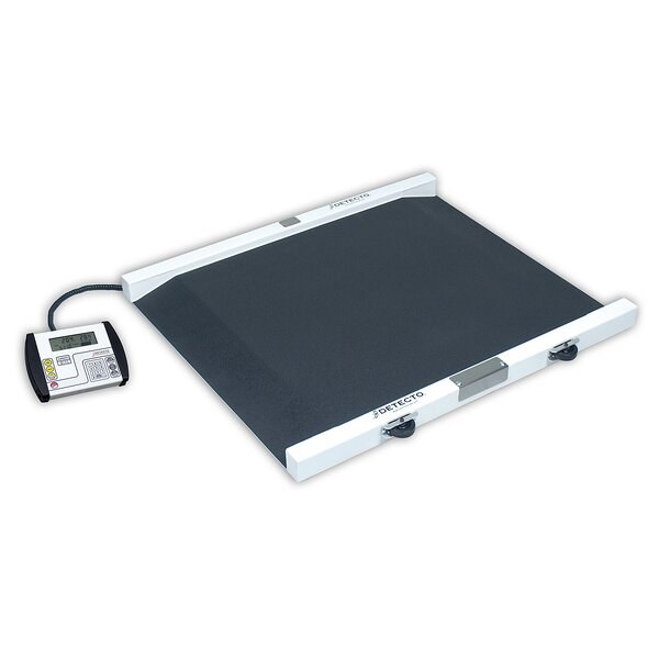 Portable Painted Steel Bariatric Wheelchair Scale by Detecto